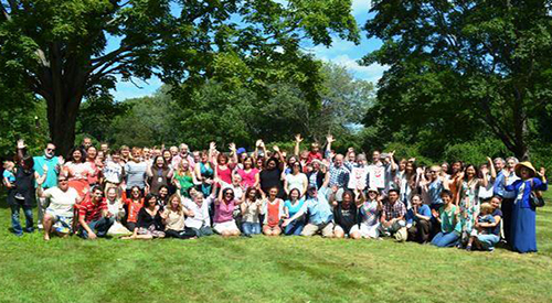 Group photo of Bedford and Boston campuses at the annual CHOIR picnic, 2015.
